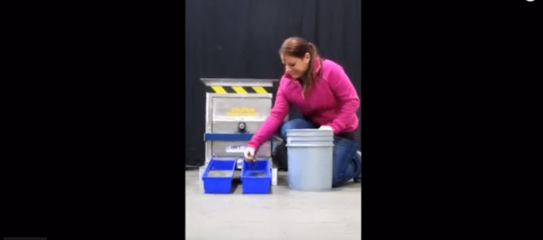 magnetic drum separator demonstration video