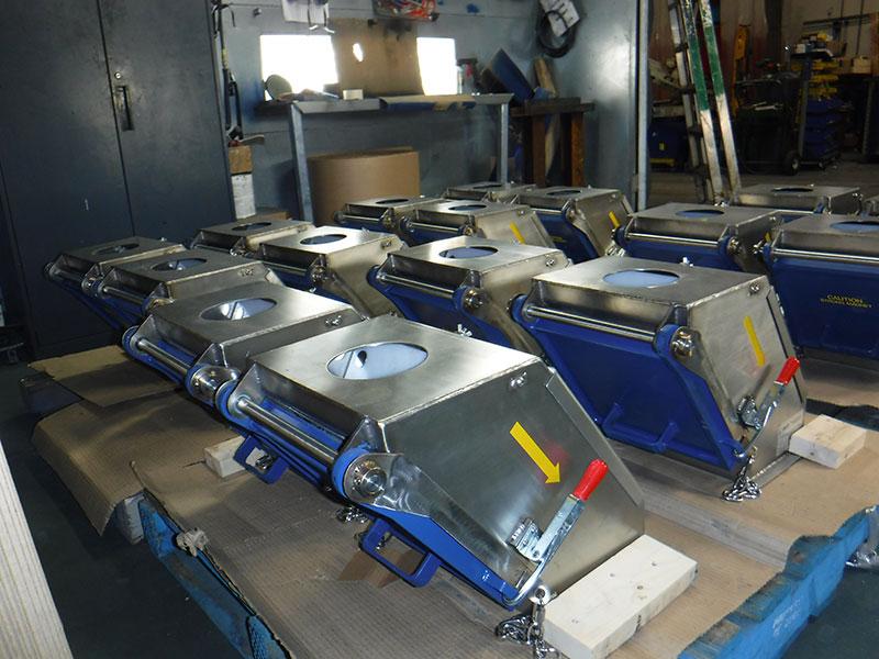 Industrial strength magnetic plate separator