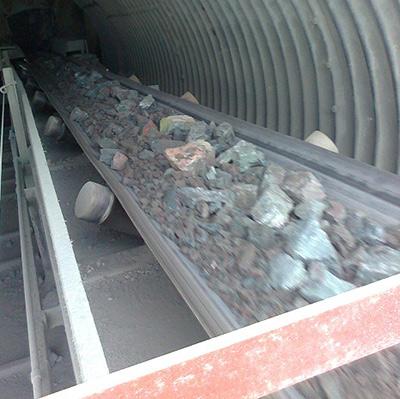 Rocks on Conveyor Belt